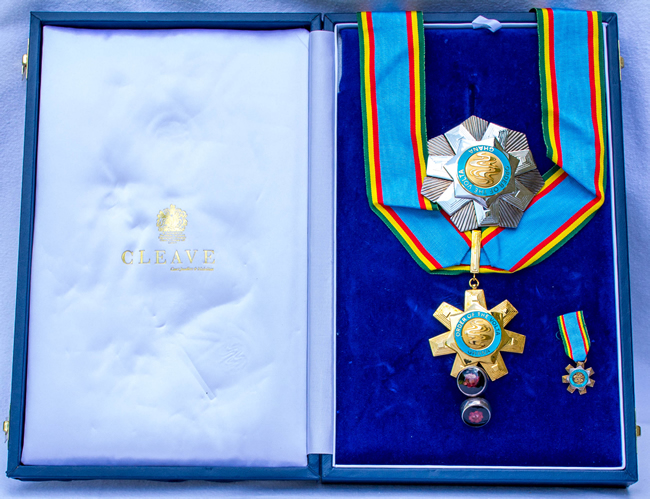 Ghana National Award 2008 by President J A Kufuor ORDER OF THE VOLTA